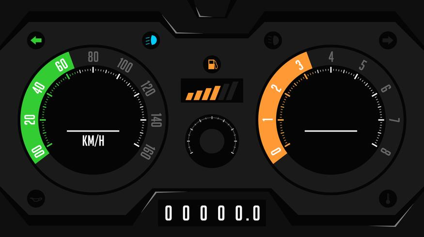 875x490 Futuristic Car Dashboard Ui Vector