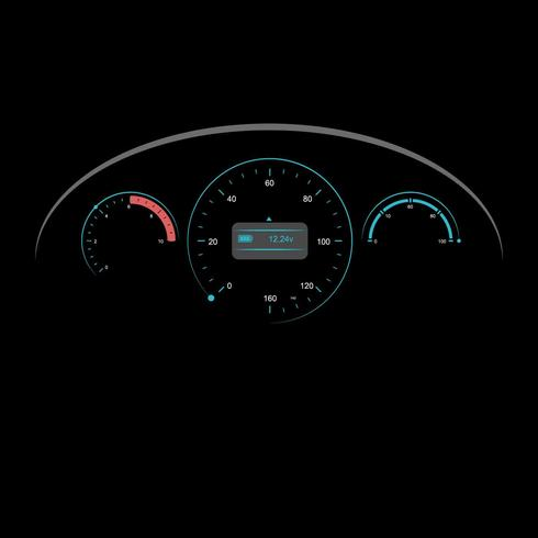 490x490 Car Dashboard Ui Illustration Vector