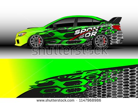 450x341 Car Decal Vector, Graphic Abstract Racing Designs For Vehicle
