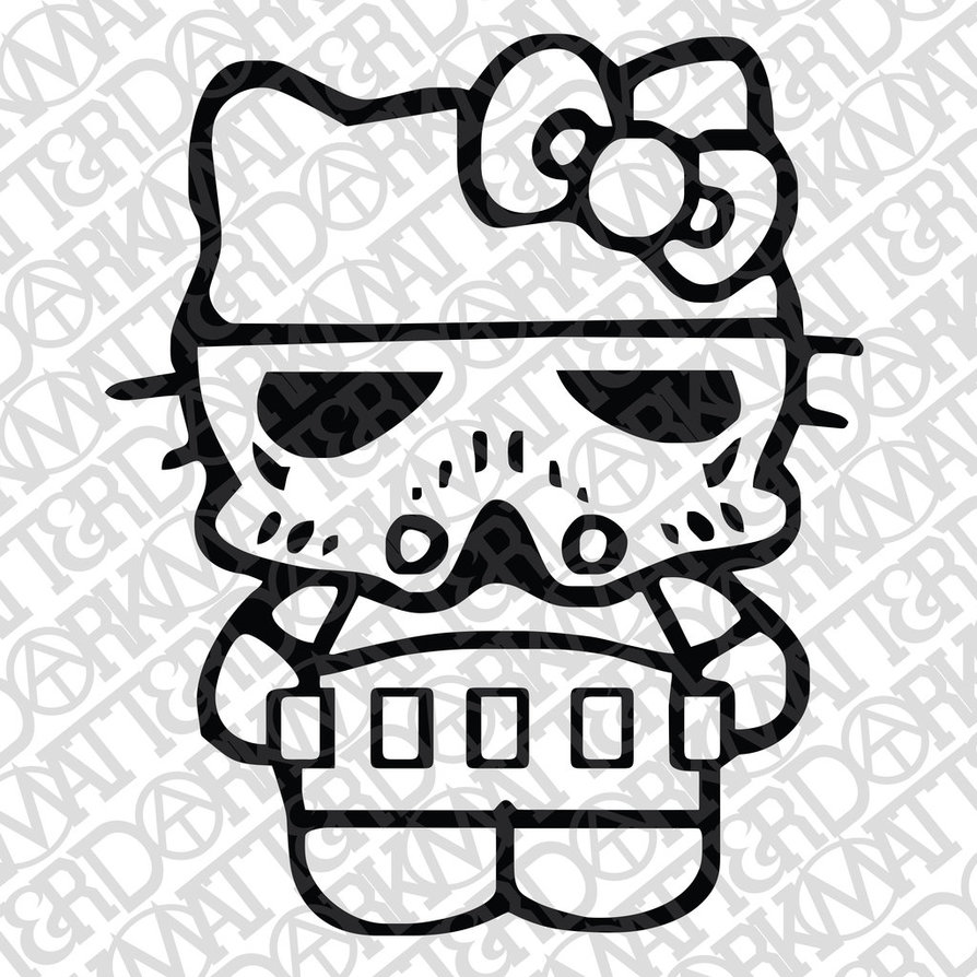 894x894 Hk Trooper Kitty Close Up For Car Decal Vector By
