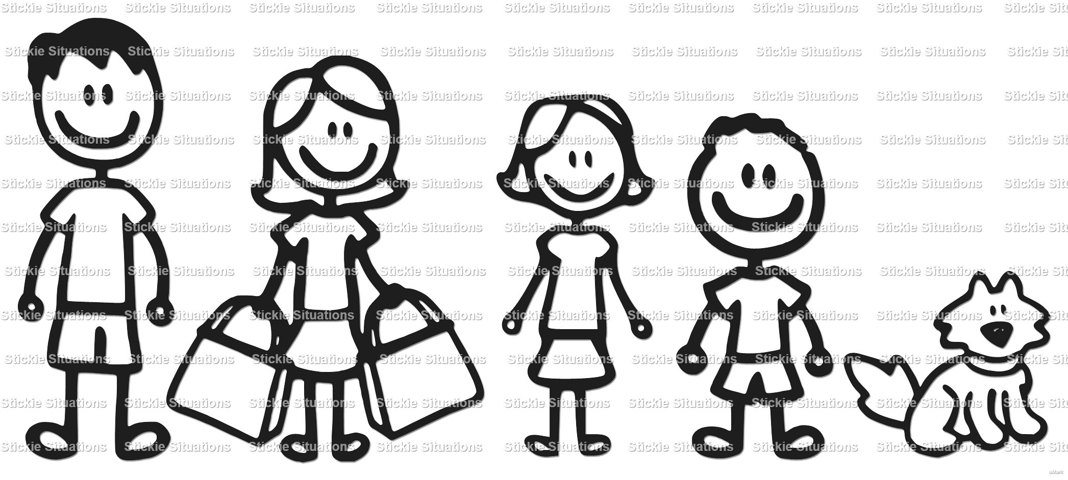2093x942 Stick Family Car Decal Stickie Situations Online Store Powered