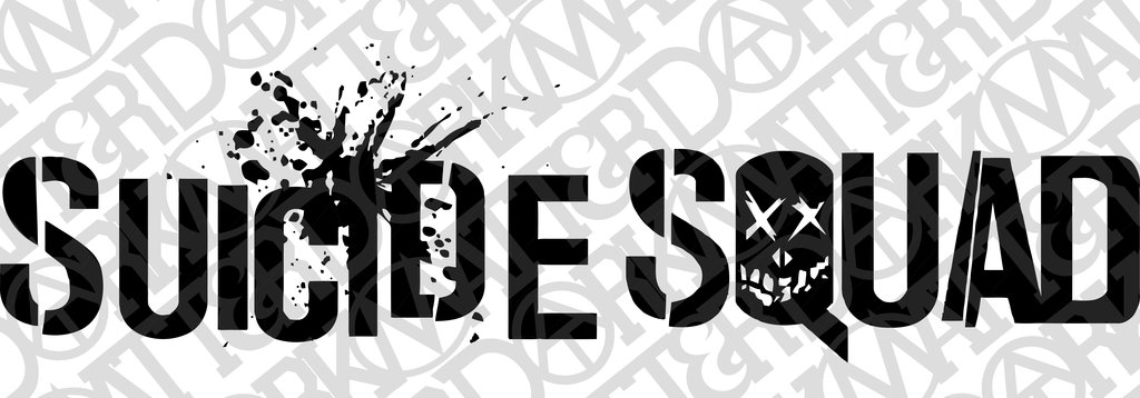 1024x358 Suicide Squad Text Close Up For Car Decal Vector By
