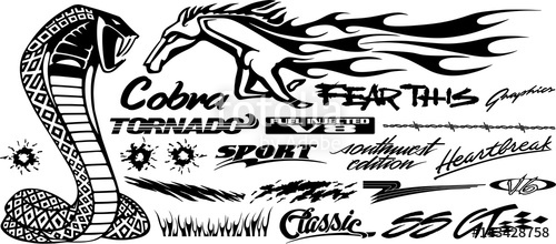 500x220 Car, Bike, Vehicle Graphics, Vinyls Amp Decals In Isolated