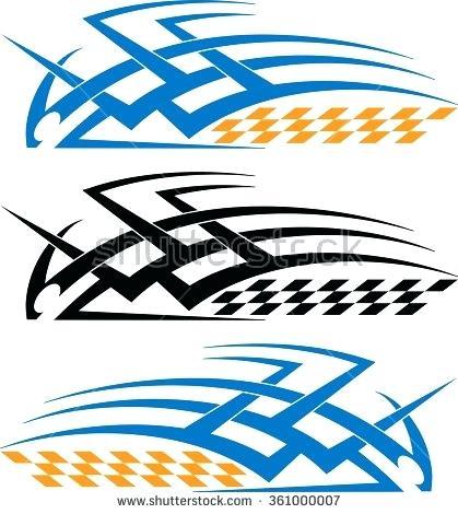 419x470 Tribal Car Decals Tribal Car Decal Vinyl Ready Vector Illustration