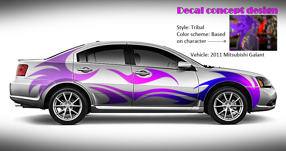 1000x529 Vector Art Car Decal Concept By Sexy Chickennugget