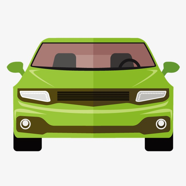 650x650 Vector Car, Car Clipart, Green Car, Car Front View Png And Vector