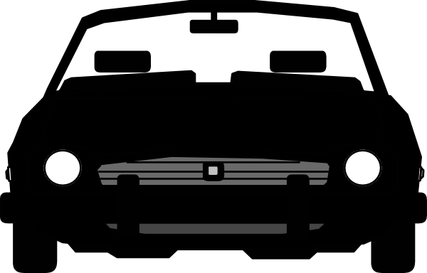 600x384 Car Clipart Front Cute Borders, Vectors, Animated, Black And White