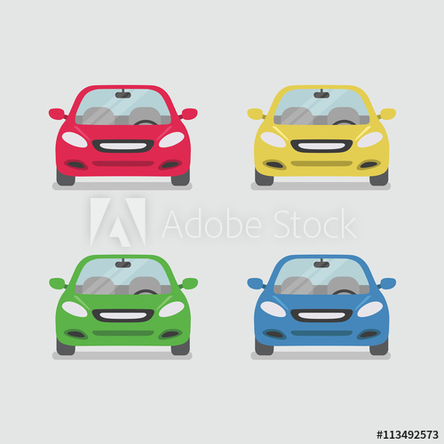 500x500 Car Front View Vector
