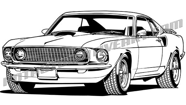 600x339 1969 Ford Mustang Clip Art, Buy Two Images, Get One Image Free
