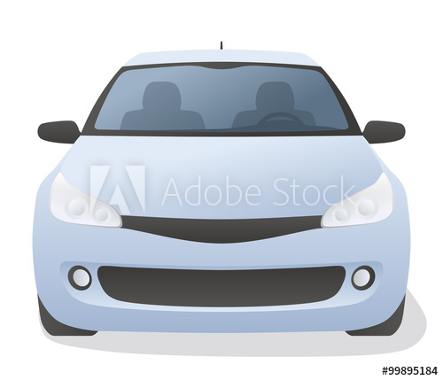 500x429 Generic Car Front View, Vector Illustration