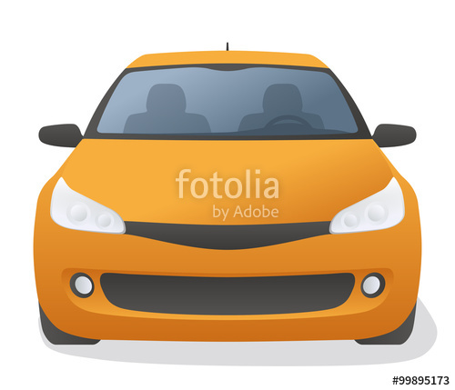 500x429 Generic Car Front View, Vector Illustration Stock Image And