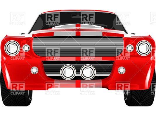534x400 Red Racing Car With Two Stripes