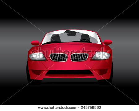 450x358 Sport Car Vector Vector Sports Red Car Front View Car