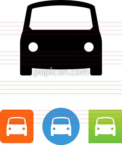 400x475 Vector Car Front View Icon