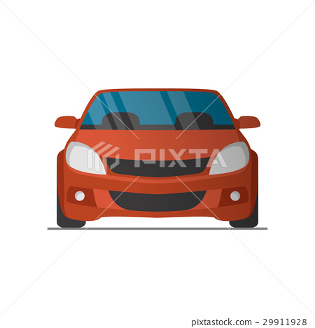 450x468 Vector Sports Red Car Front View