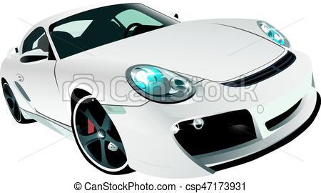 450x270 Beautiful White Sports Prestige Car Front View.