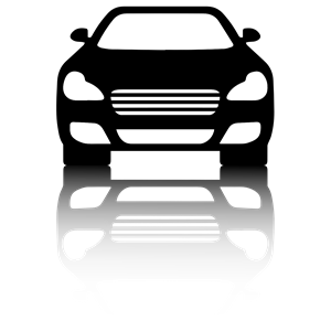 300x300 Black Car Front View With Shadow Clipart, Cliparts Of Black Car