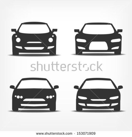 450x470 Car Front View Vector