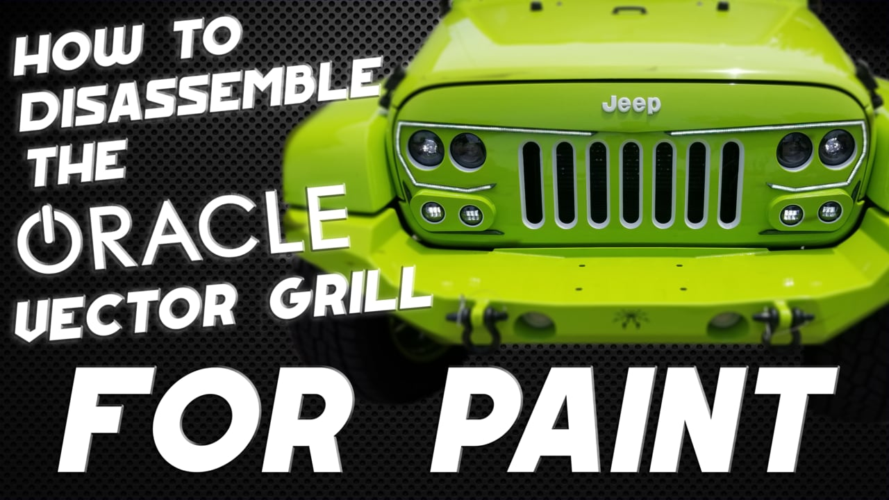 1280x720 How To Disassemble The Oracle Vector Grill For Painting On Vimeo