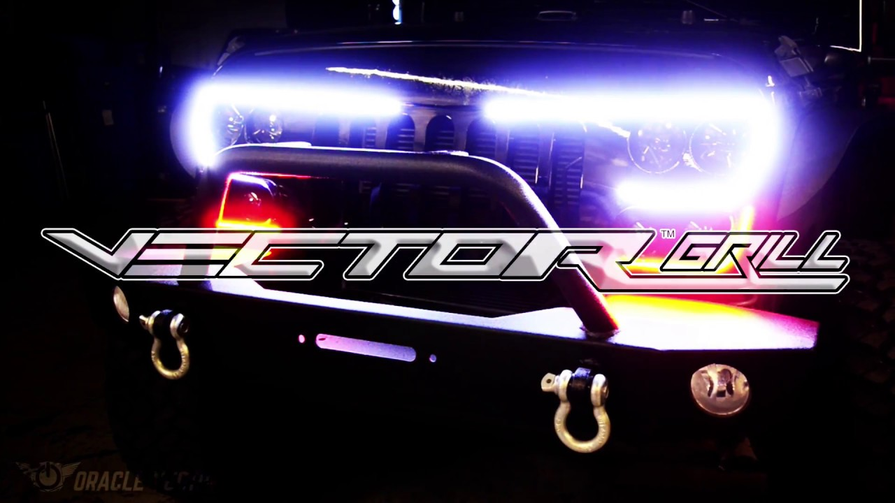 1280x720 Oracle Vector Series Full Led Grill Jeep