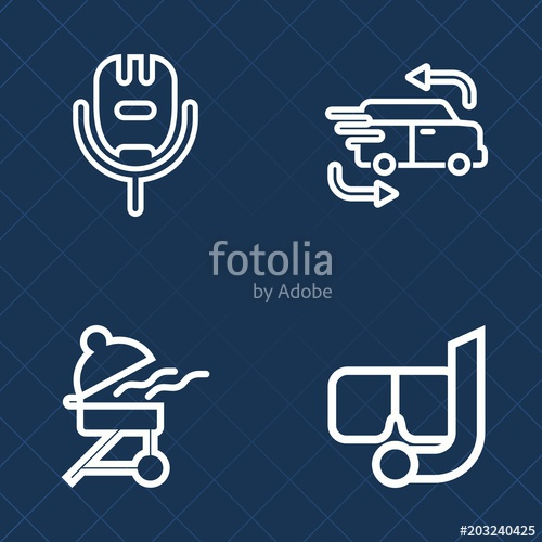 500x500 Premium Set Of Outline Vector Icons. Such As Hot, Beach, Sport