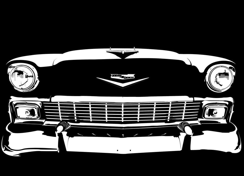 1024x738 56 Chevy Bel Air On Black James D Bull