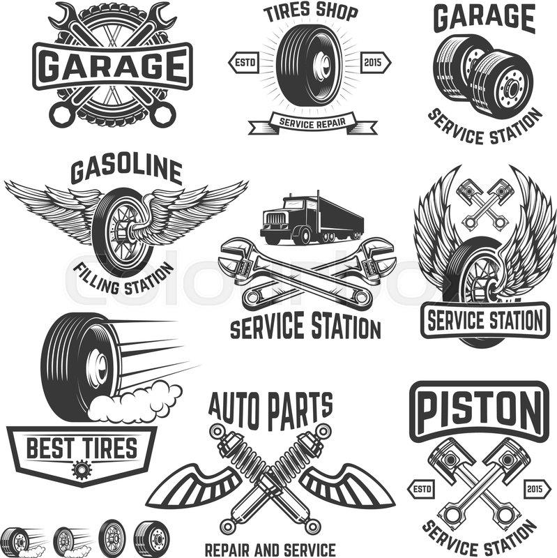 799x800 Garage, Service Station, Auto Parts Store, Filling Station Badges