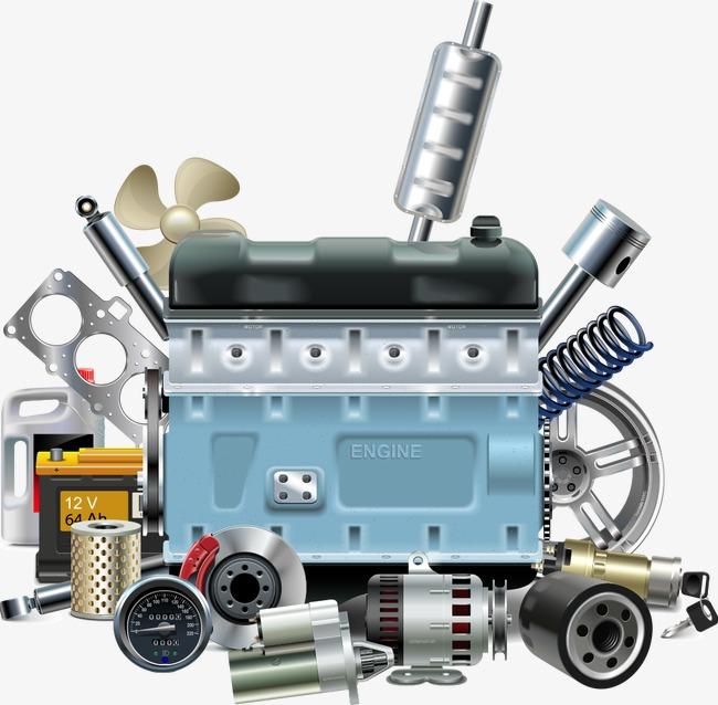 650x638 Vector Car Parts, Car Clipart, Car Parts, Cartoon Car Parts Png