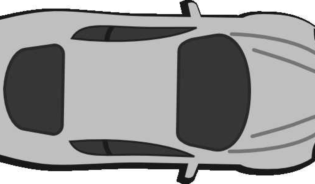 1024x600 Red Car Top View 0d Clip Art