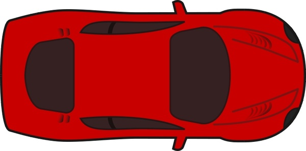 600x297 Red Racing Car Top View Free Vector In Open Office Drawing Svg