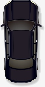 151x292 Vector Cartoon Black Car Top View, Vector, Cartoon, Cartoon Vector