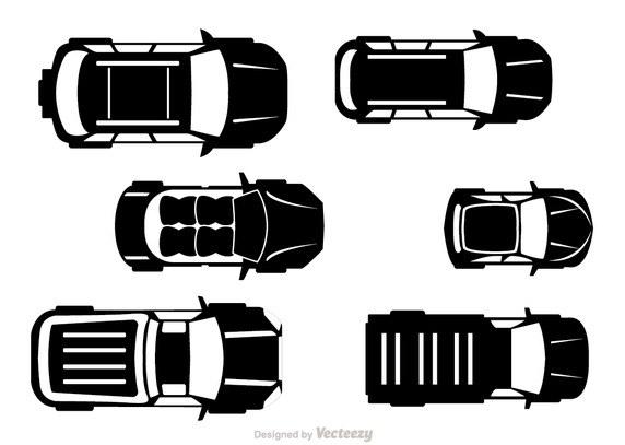 572x407 Car Top View Vector