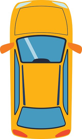 321x538 Car Top View Vector Premium Clipart