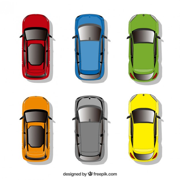 626x626 Cars Collection In Top View Vector Free Download