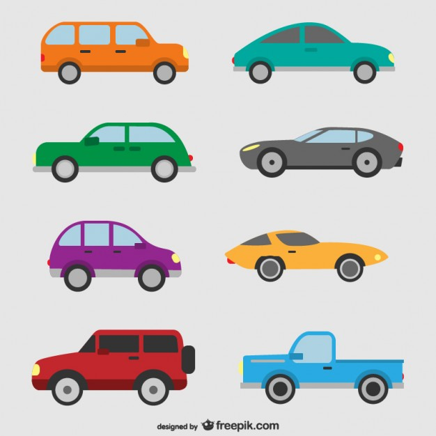 626x626 Cars Set Vector Free Download