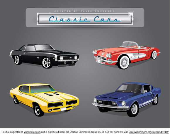 580x463 Free 4 Vector Classic Cars