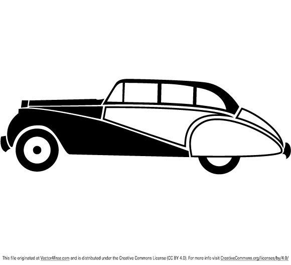 580x528 Free Vintage Car Vector