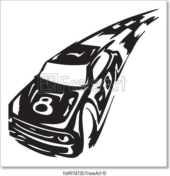 561x581 Free Art Print Of Race Car