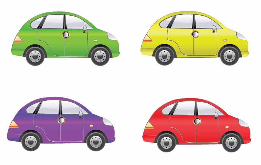 866x549 Set Of Four Car Vector Free Vector Graphics All Free Web