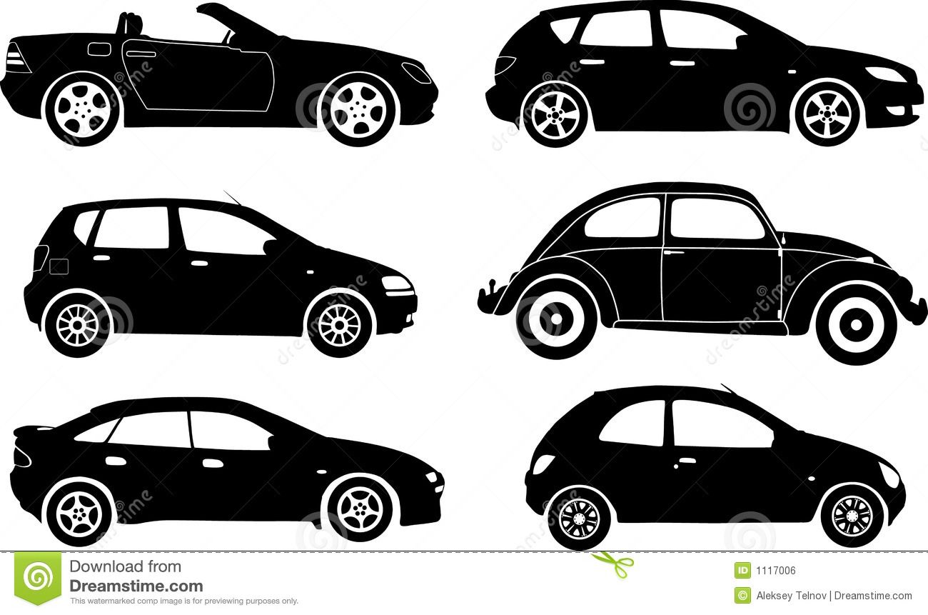 1300x861 Silhouette Cars, Vector