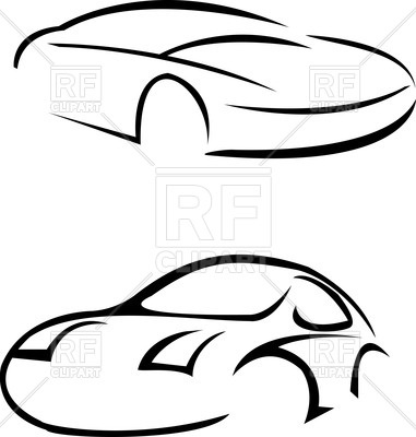 381x400 Sketched Sport Cars Vector Image Vector Artwork Of