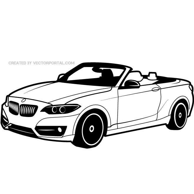 660x660 Vector Drawing Of A Bmw Car. Vehicles Free Vectors