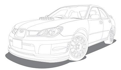 425x246 Line Drawing Vehicle Car Vector Line Drawing Vehicle Car Vector