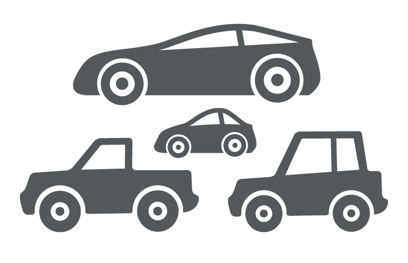 811x524 Four Basic Car And Truck Icons Trashedgraphics