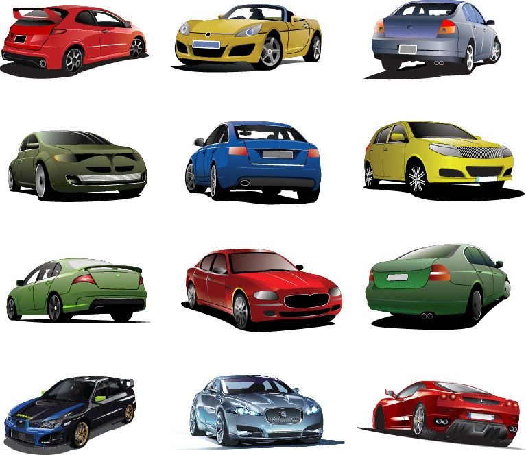 767x664 Free Cars Vector Set Free Vector Graphics All Free Web