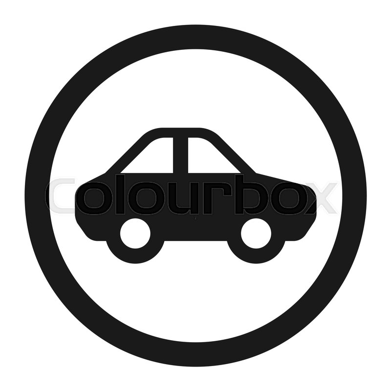 800x800 No Motor And Car Line Icon, Traffic And Road Sign, Vector Graphics