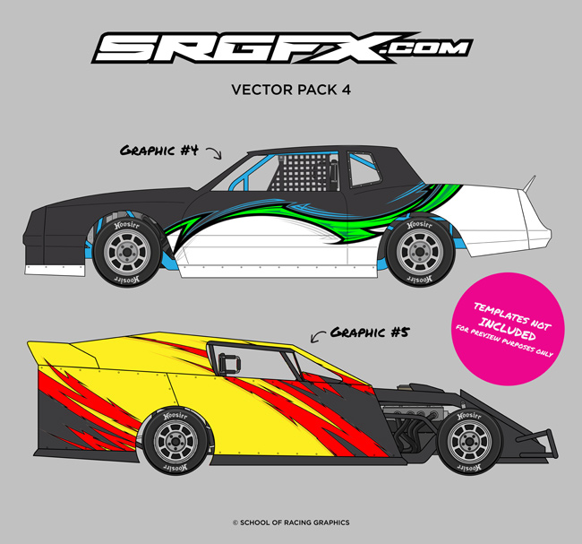 650x607 Vector Racing Graphics Pack 4