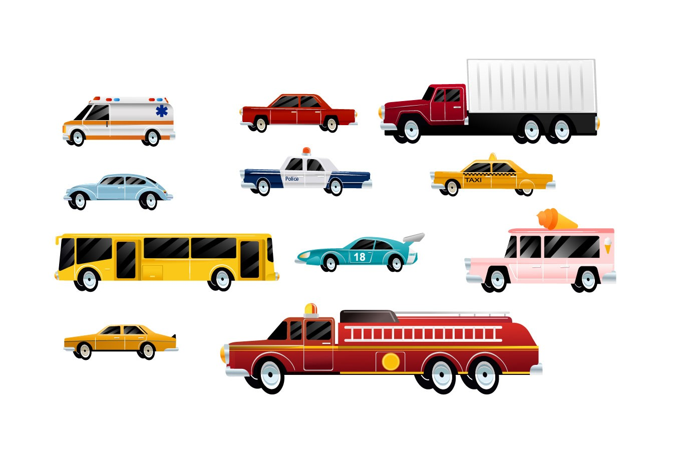 1352x921 Cars Vector Pack Vector Unique Vehicle Vectorvice (11 Eps Files)