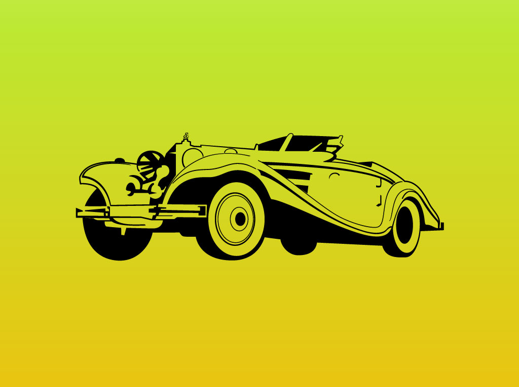 1024x765 Classic Car Vector Graphic