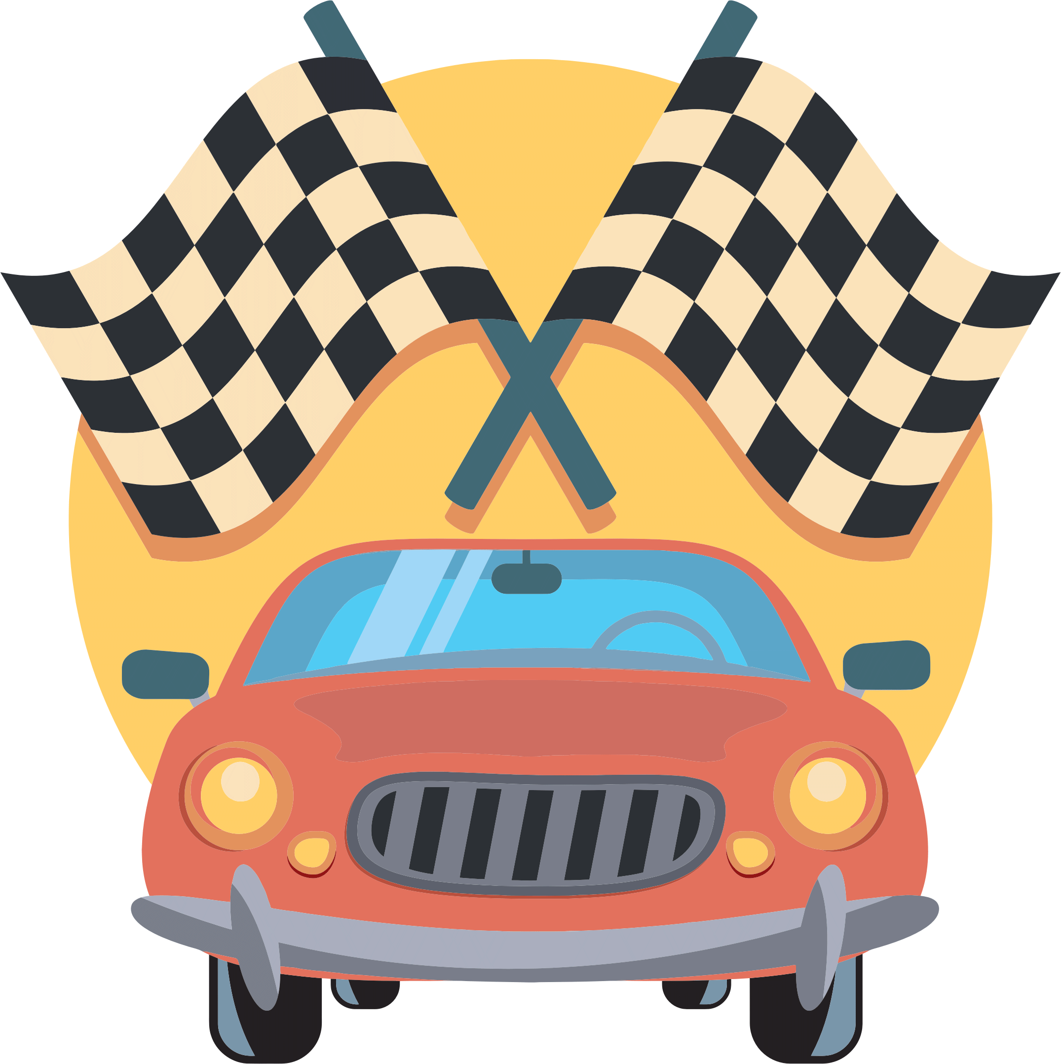 2150x2156 Car Vector Png Clipart